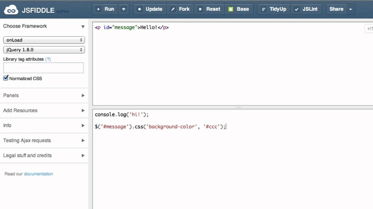 HTML、Javascript、cssの動作を試せる「jsFiddle」
