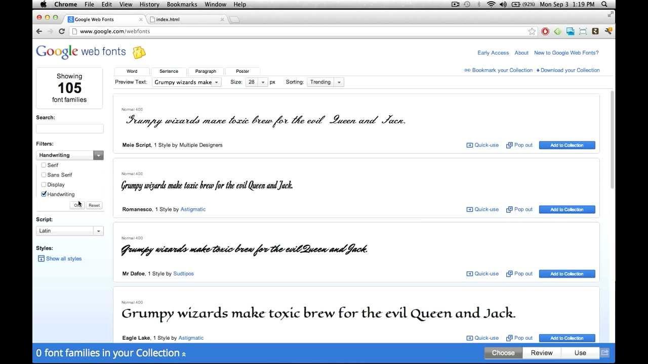 フリーのWebフォントを探せる「Google Fonts」